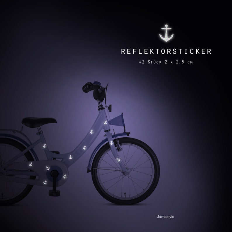 Reflector bike tattoos bike stickers anchor image 0