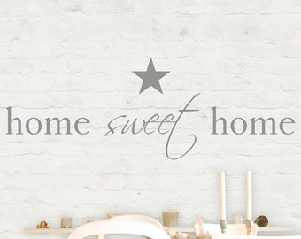 """Wall decal wall sticker """"home sweet home"""" customizable"""