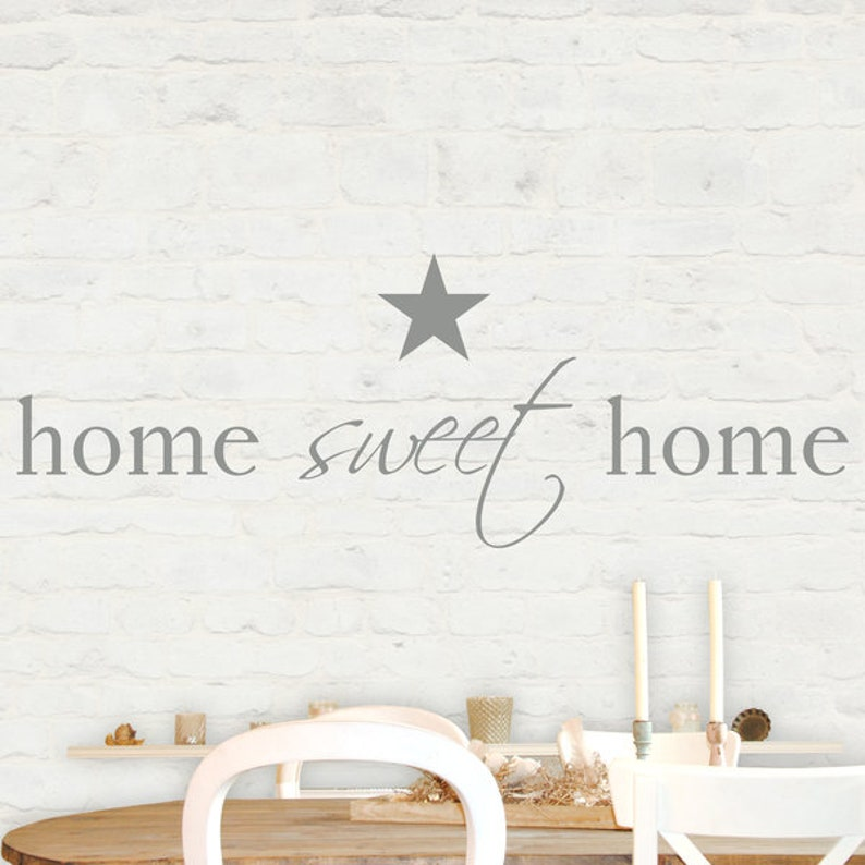 Wall decal wall sticker home sweet home image 0