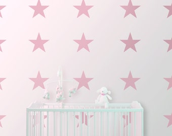 """Wall decal wall sticker """"Stars"""" 20 cm, 14 pieces"""