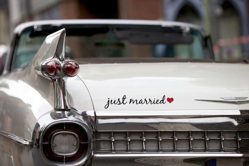 Car sticker Wedding Just Married image 0