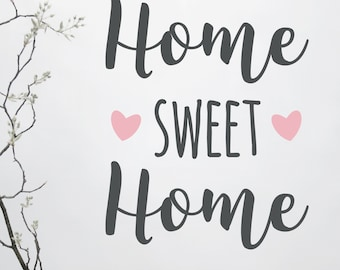 """Wall stickers """"Home sweet home"""", sizes S-M, wall decal, sticker, customizable"""