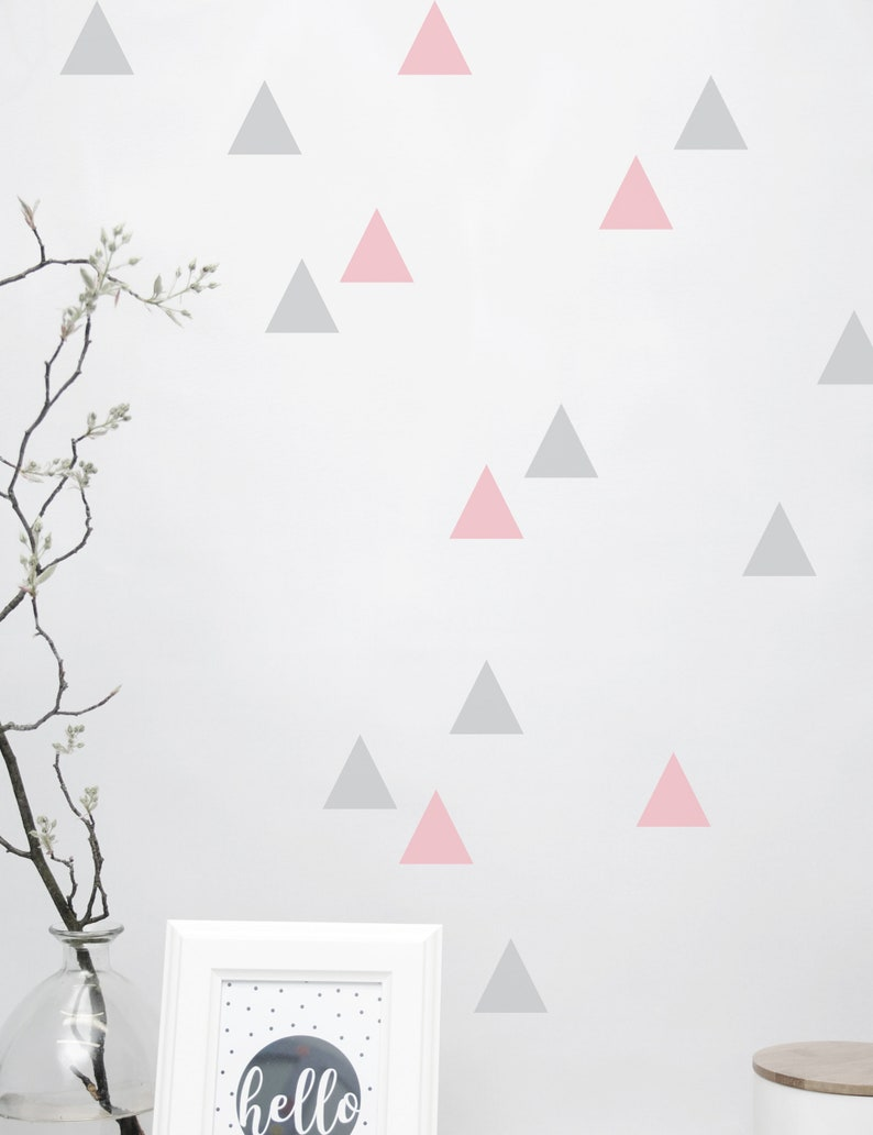 Wall decal wall sticker Triangle triangles 128 image 0
