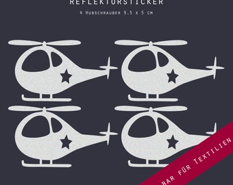 Reflectors ironing picture ironing helicopter, helicopter, iron ingesnot, for textiles, iron on transfer sticker