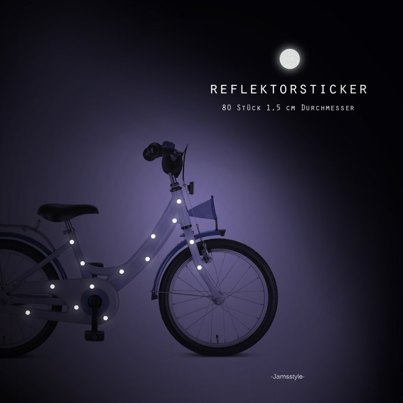 Reflector Bicycle Tattoos Dots Points 80 pieces image 0