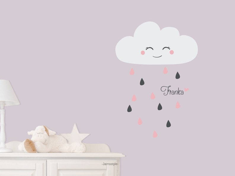 Wall sticker Small rain Clouds cloud by name size image 0