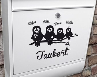 """Mailbox name plate """"Doves."""""""