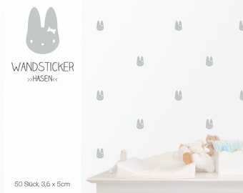 """Wall decal wall sticker """"Bunny girl"""", 50 pieces, sticker"""