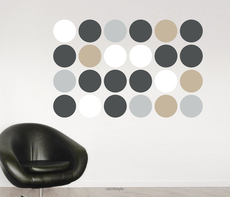 Wall sticker dots circles points 18 cm diameter image 0