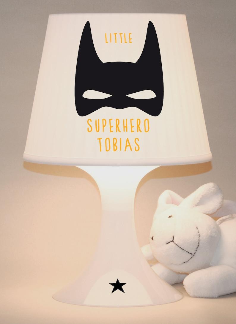 Children's lamp table lamp Superhero with image 0