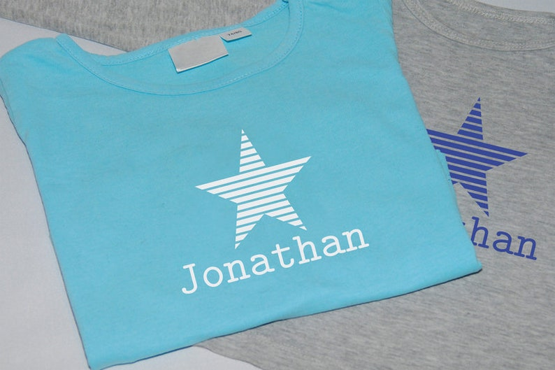 Flock Foil star with Name Personalizable image 0