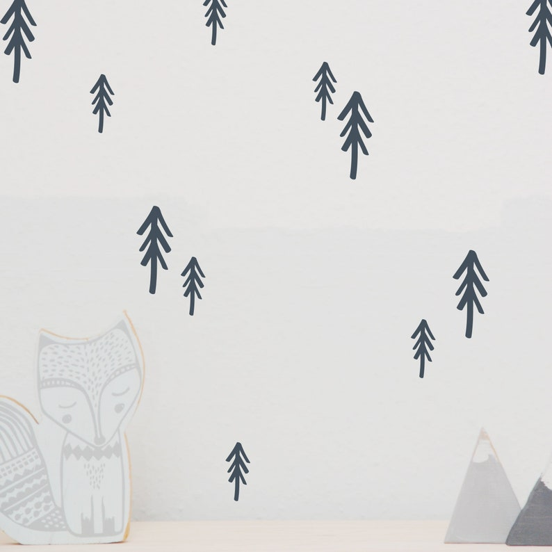 Wall tattoo wall sticker fir set fir trees image 0