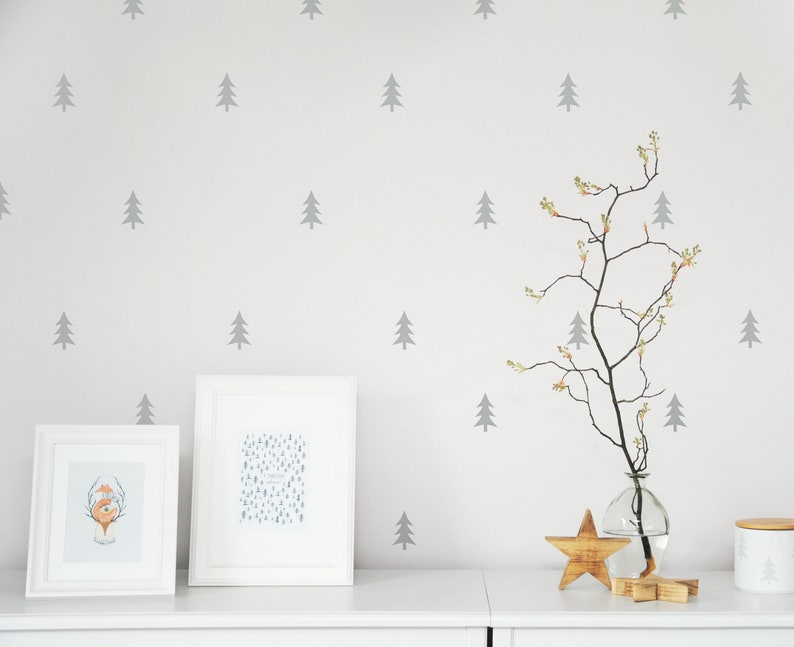 Wall stickers fir trees 20 pieces stickers wall image 0