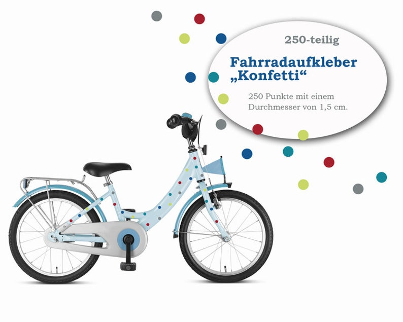 Bike sticker Fahrradtattoos Confetti 250-piece image 0