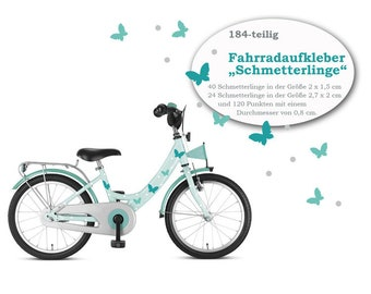 """Bicycle sticker Bicycle tattoos """"Butterfly"""" 184 pieces, waterproof"""