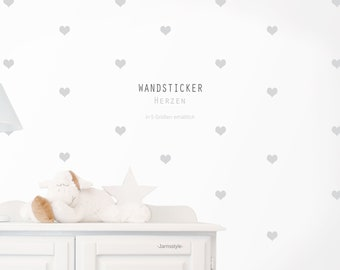 """Wall decal wall sticker """"hearts"""" sticker color customizable"""