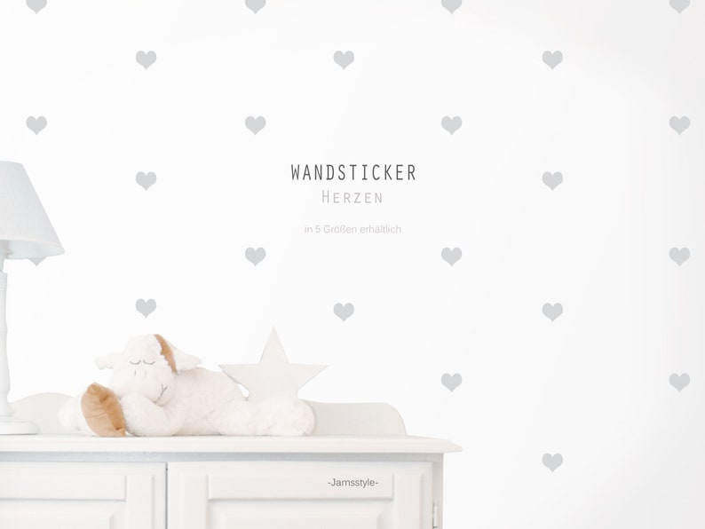 Wall decal wall sticker hearts sticker color image 0