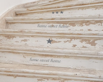 """Furniture tattoo Furniture sticker """"home sweet home"""" stars 25 pieces, also usable as wall decal"""