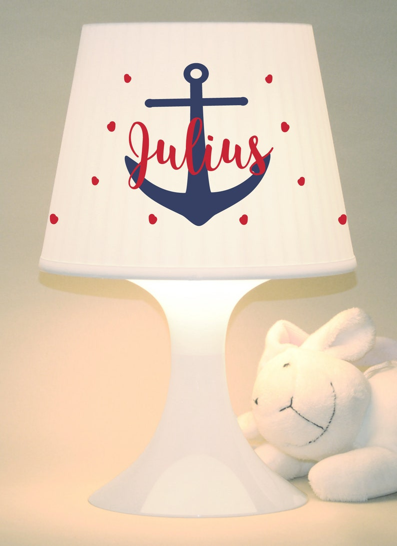 Children's lamp snooze lamp Ahoi anchor name image 0