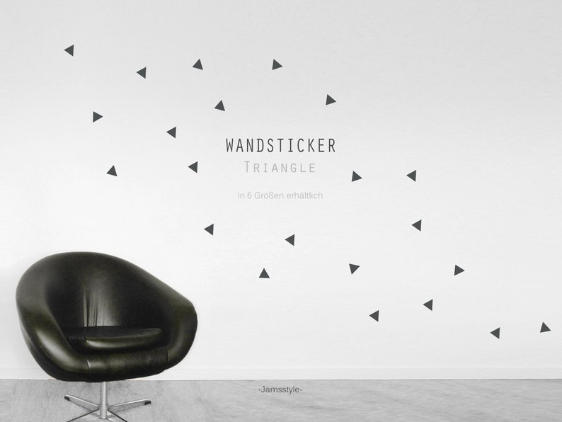 Wall decal wall sticker Triangle 3-8 cm image 0