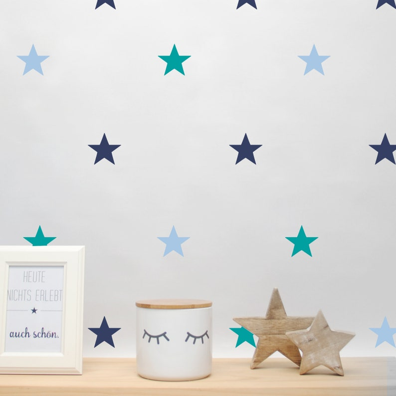Wall decal wall sticker stars size selectable image 0