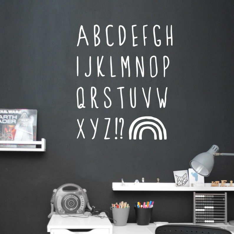Wall sticker wall decal Alphabet ABC letters image 0