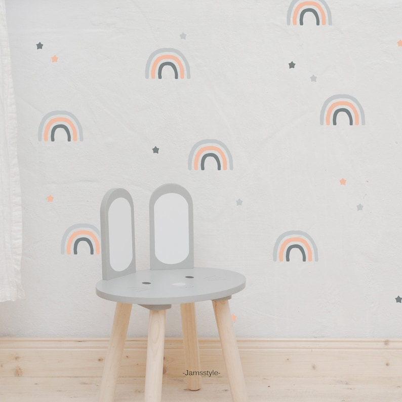 Wall decal wall sticker Rainbow stars image 0