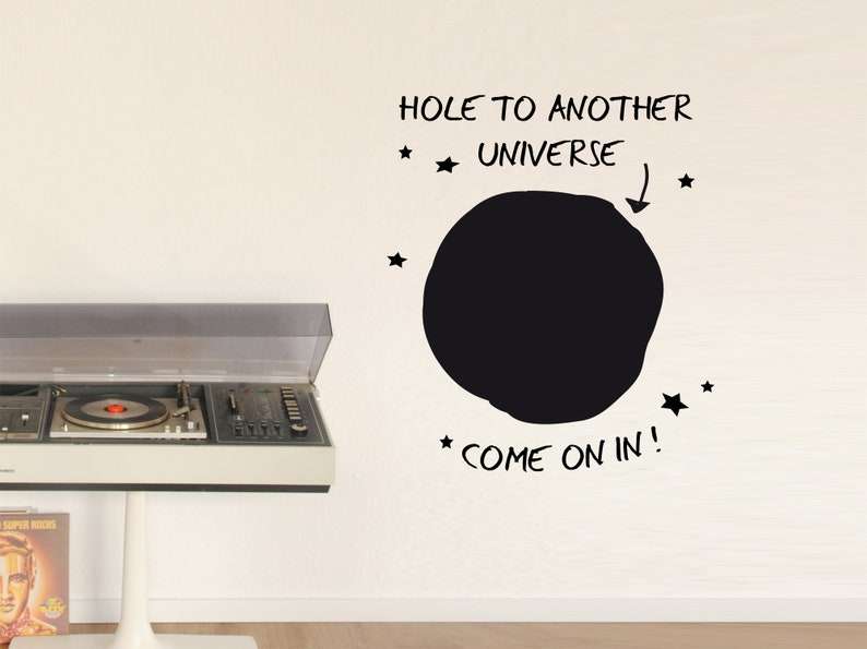 Wall sticker Black hole hole to another universe image 0
