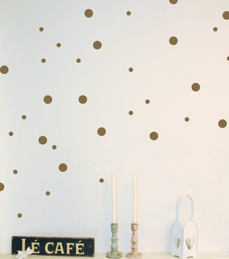 Wall Decals Sticker dots dots 200 pieces vinyl image 0