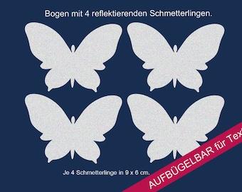 "Ironing image applique reflector ""butterflies"" reflector bracket image"