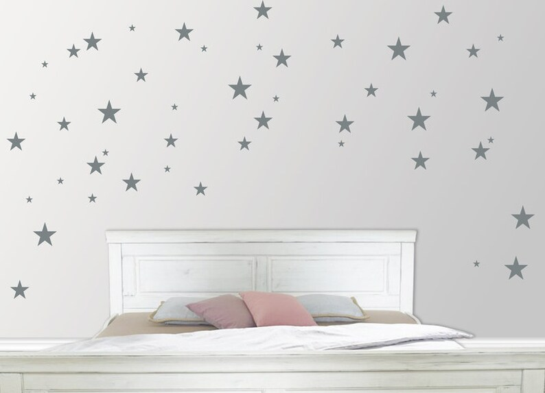 Wall Sticker Stars 76-piece in 5 sizes image 0