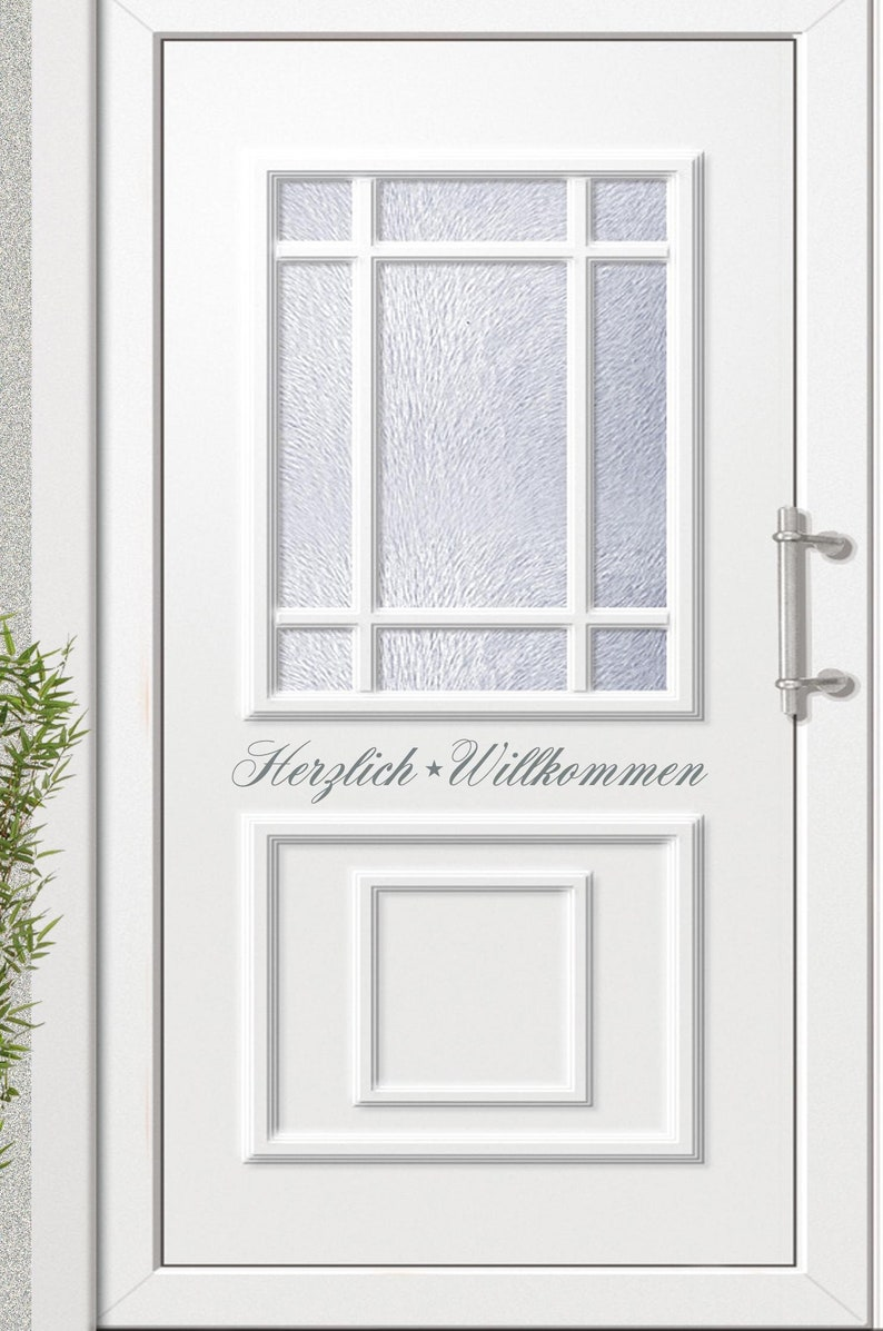 Door sign Welcome stickers stickers also usable image 0