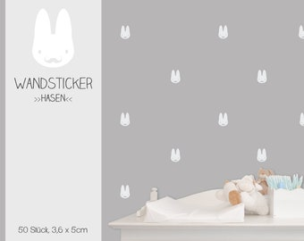 """Wall stickers """"bunny boys"""", wall decal, sticker, 50 pieces"""