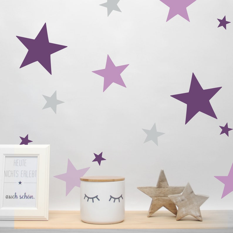 Wall decal wall sticker Star Mix 4 sizes 38 image 0