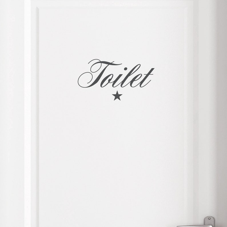 Door sign Toilet toilet sign wall decal planner image 0