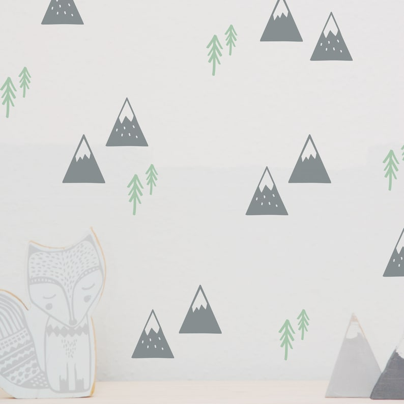 Wall decal wall sticker Mountains Mountains image 0
