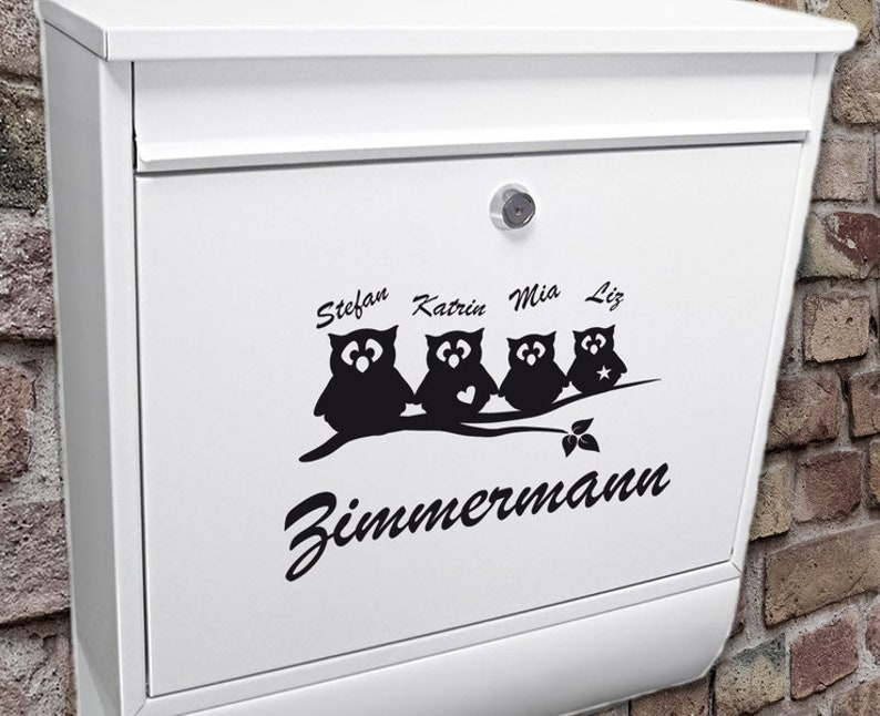 Mailbox Name Sign Owls Planner Stickers Tattoo image 0