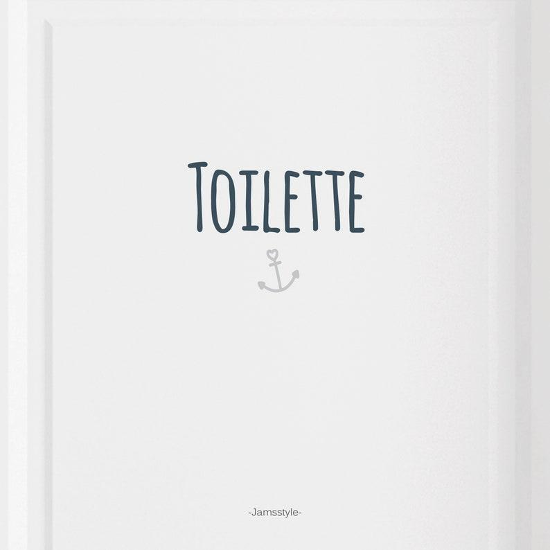 Door sign Toilet with anchor Door sticker image 0