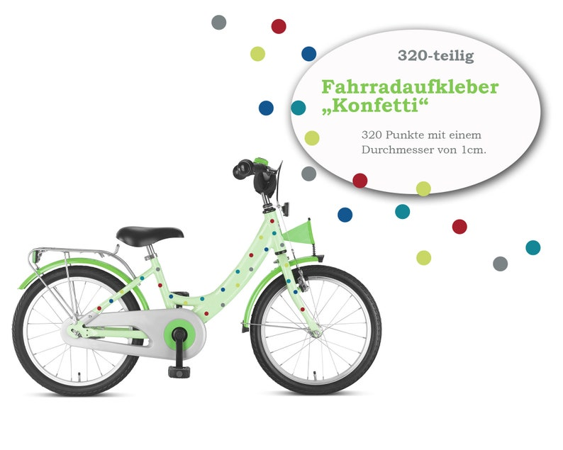 Bicycle stickers stickers Confetti 320-piece image 0