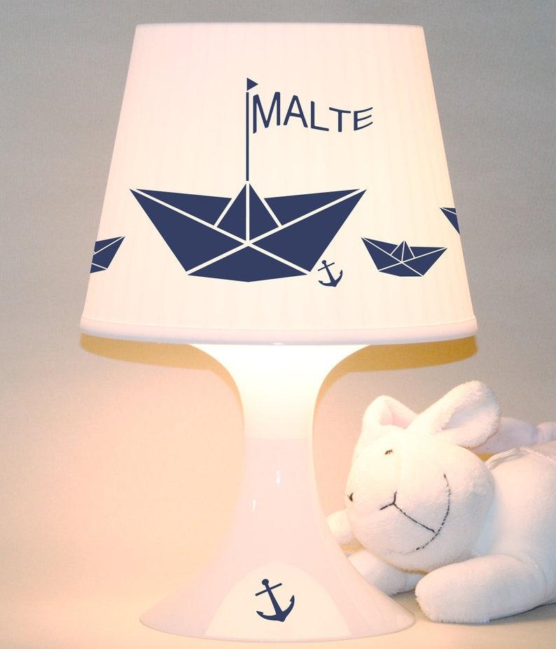 Children's lamp slumber lamp Paper ships with image 0