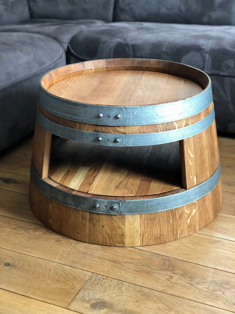 Wine Barrel Coffee Table.Wine Barrel Coffee Table Oiled With Inlet Curvows