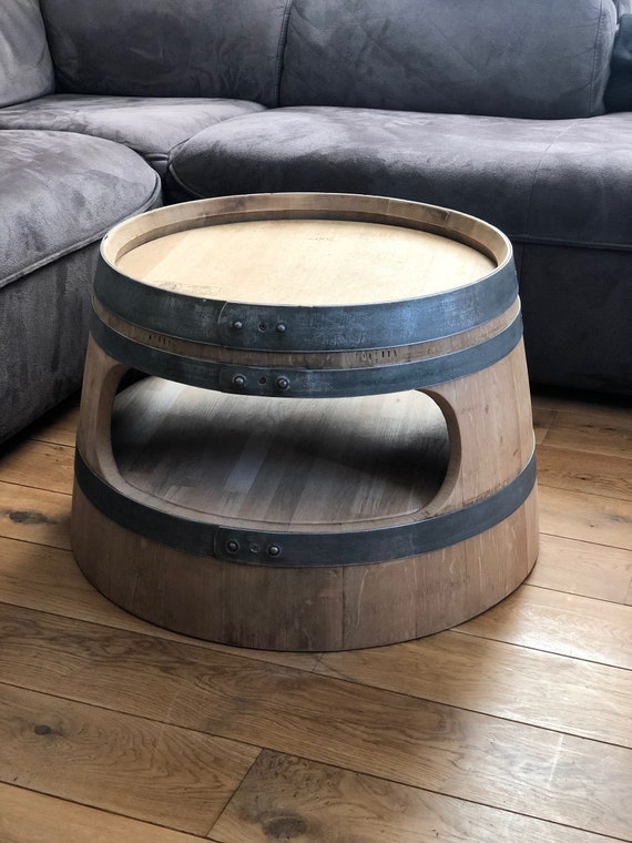 Wine Barrel Coffee Table.Wine Barrel Coffee Table With Inlet Floor Round Corners Nature
