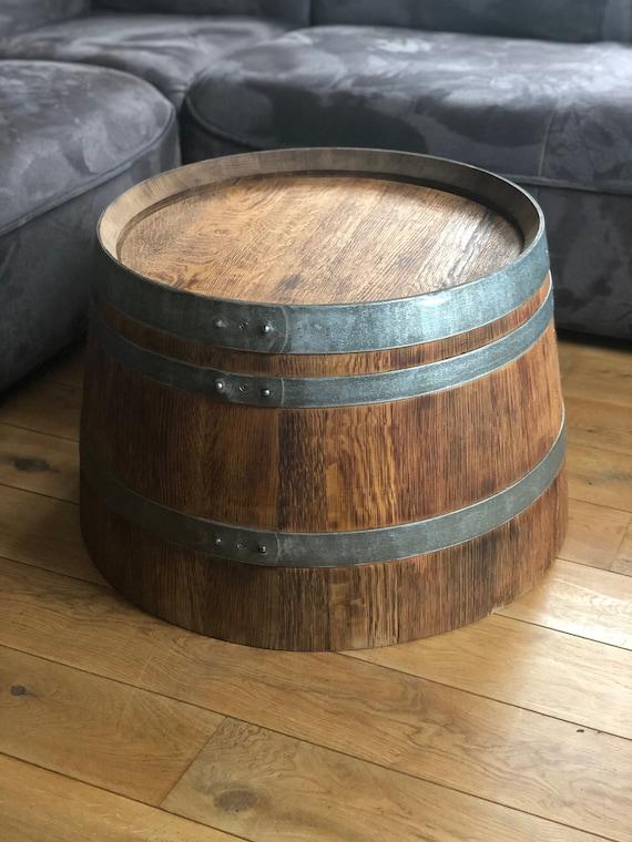 Tavolino Rustico Mezza Botte Di Vino Etsy
