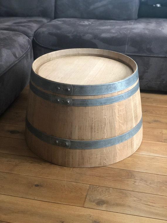 Table basse de tonneau de vin naturel sans branding