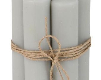 Stick candles 11 cm Grey 6 pieces candles Advent wreath Christmas
