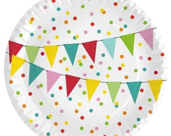 Paper plate pennant chain 10 pieces