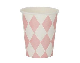 Cardboard mug Diamond 8 Set Pink