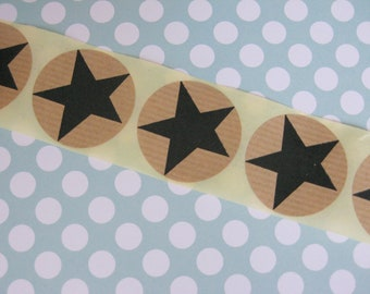 Sticker Star 20 Pieces Black / Nature