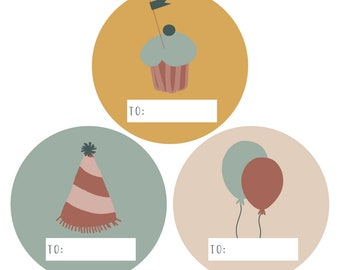 Sticker Party 12 Piece Planner Stickers Kids Birthday