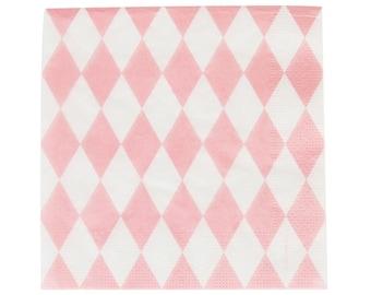 Paper napkins 20 pieces of diamond pink